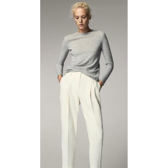 Massimo Dutti Pants - NEW Massimo Dutti Ivory Slim Trouser Pants